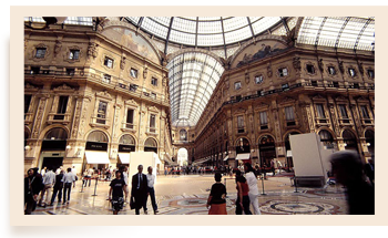 The famous Gallery of Milan
